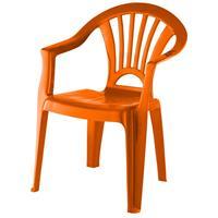 Oranje Stoeltje Voor Kinderen 51 Cm - Tuinmeubelen - Kunststof Binnen/buitenstoelen Voor Kinderen