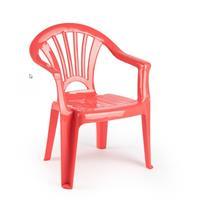 Kinder Stoelen 50 Cm - Koraal Rood - Tuinmeubelen - Kunststof Binnen/buitenstoelen Voor Kinderen