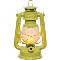 Gele Led Licht Stormlantaarn 24 Cm Met Vlam Effect - Campinglamp/campinglicht - Vuur Led Lamp