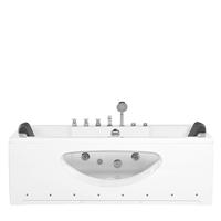 Beliani Whirlpool met LED-verlichting wit 170 x 80 cm HAWES