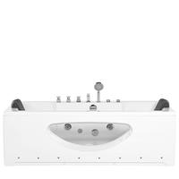 Beliani Whirlpool met LED-verlichting wit 180 x 80 cm HAWES