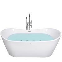 Beliani Whirlpool-badkuip vrijstaand wit 168 cm ANTIGUA