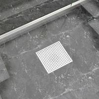 vidaXL Doucheafvoer 25x25 cm roestvrij staal