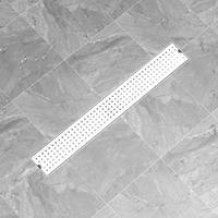 vidaXL Doucheafvoer gestippeld 83x14 cm roestvrij staal