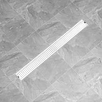 vidaXL Doucheafvoer gestippeld 103x14 cm roestvrij staal