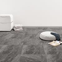 vidaXL Vloerplanken 20 st zelfklevend 1,86 m² PVC zwart patroon