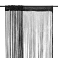 vidaXL Draadgordijnen 2 st 100x250 cm zwart - vidaXL