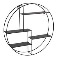 Xenos Wandkastje rond met 4 planken - 50x10x55 cm