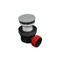 Mondiaz Easy klikplug met sifon ruimtebesparend Solid Surface - Clay