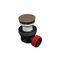 Mondiaz Easy klikplug met sifon ruimtebesparend Solid Surface - Smoke