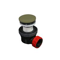 Mondiaz Easy klikplug met sifon ruimtebesparend Solid Surface - Army