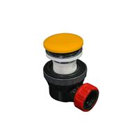 Mondiaz Easy klikplug met sifon ruimtebesparend Solid Surface - Ocher