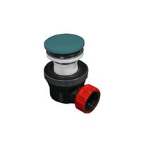 Mondiaz Easy klikplug met sifon ruimtebesparend Solid Surface - Smag