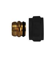 Riko adaptor eurokonus/knel 15mm mat zwart