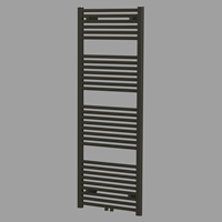 Blinq Altare R handdoekradiator 180 x 60 cm (H X L) mat zwart