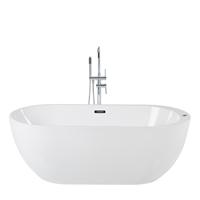 Beliani Whirlpool vrijstaand wit met LED-verlichting 170 cm NEVIS