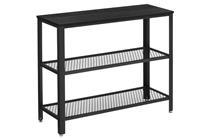 Mira Home Haltafel industrieel zwart - 101,5x35x80