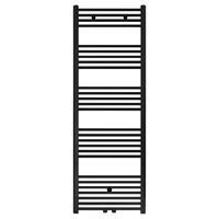 Bewonen Alento handdoekradiator 160x60cm - mat zwart geborsteld