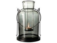 Dry FLWRS Lantaarn glazen ø17x30cm zwart