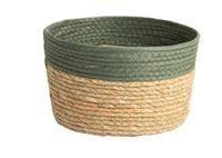 Dry FLWRS Jute opbergmand ø25x15cm Groen