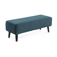 Kave Home Cover bench Dyla turkoois stof