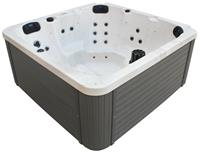 Badstuber Palma outdoor whirlpool 5-persoons wit