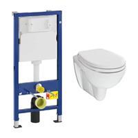 Geberit UP100 toiletset met Mueller Trevi toilet en softclose zitting