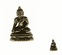 Spiru Minibeeldje Boeddha Stabiliteit Akshobya Messing