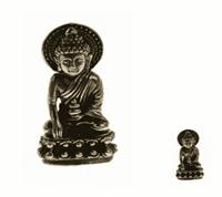Spiru Minibeeldje Boeddha Lang Leven Amitayus Messing - 3,3 cm
