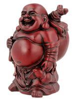 Spiru Boeddha Rood met grote Knapzak (9 cm)