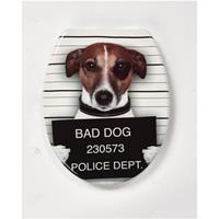 AquaVive toiletzitting Hond duroplast bruin