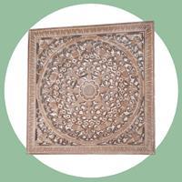 NusaOriginals Decoratief Wandpaneel (60cm - Balinees Houtsnijwerk)