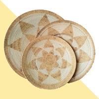 NusaOriginals Handgemaakte Rotan Schalen - XL set van 3 - wit