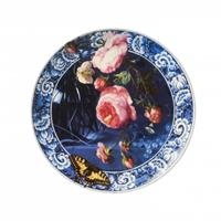 Heinen Wandborden - Bord Bloemen Gouden eeuw 26,5cm