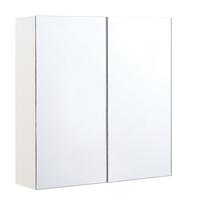 Beliani Badkamerspiegel wit/zilver 60 x 60 cm NAVARRA