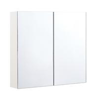 Beliani Badkamerspiegel wit/zilver 80 x 70 cm NAVARRA