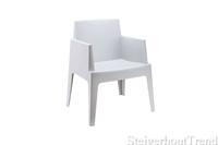 Steigerhouttrend Box stoel wit