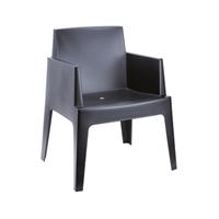 Steigerhouttrend Box stoel zwart