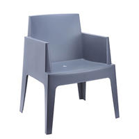 Steigerhouttrend Box stoel donkergrijs