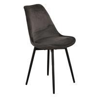 Steigerhouttrend Leaf chair velvet - donkergrijs