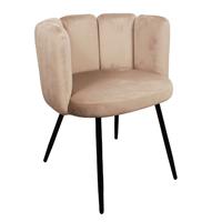 Steigerhouttrend High five chair velvet - zand
