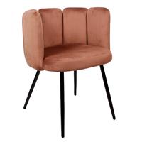 Steigerhouttrend High five chair velvet - koper