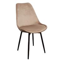 Steigerhouttrend Leaf chair velvet – zand