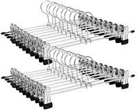 Loods 1 Kledinghanger/ Kleerhanger/ Broekhanger- broeken, rokken - Metaal - 20 stuks - anti-slip