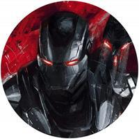 Komar Avengers Painting War-Machine Zelfklevend Fotobehang 125x125cm rond