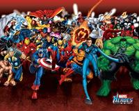 Pyramid Marvel Heroes Attack Poster 50x40cm
