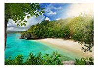 Artgeist Sunny Beach Vlies Fotobehang 100x70cm