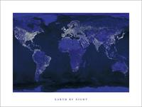 Pyramid Earth by Night Kunstdruk 80x60cm