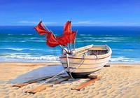 PGM Sigurd Schneider - Small fishing boat Kunstdruk 80x60cm