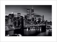 Pyramid Brooklyn Bridge Black and White Kunstdruk 80x60cm
